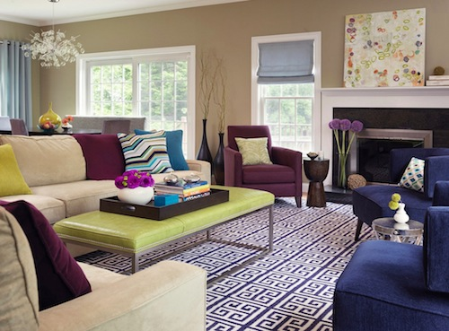 contemporary living room color