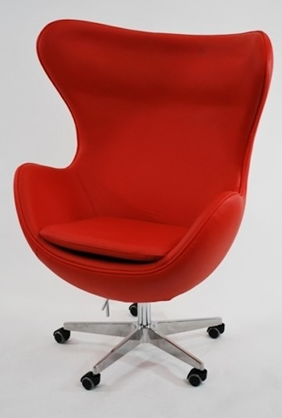 Inner office chair in leather