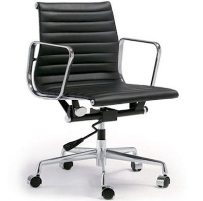Togo Lider Ribbed Leather office chair
